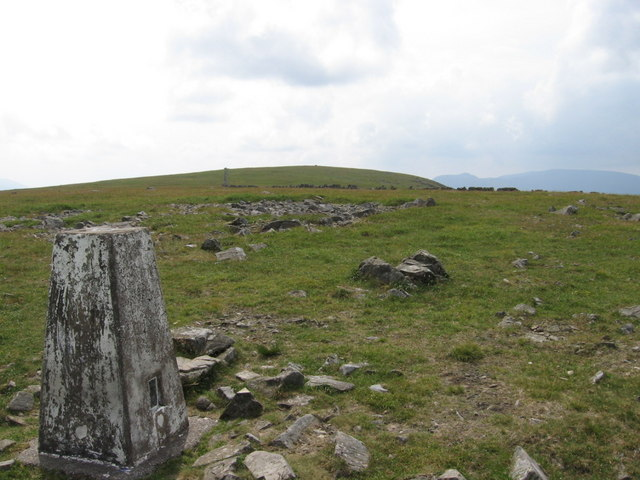 Trig point S8292  near the summit of Meikle Millyea