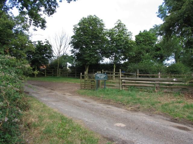Red Lodge Farm entrance