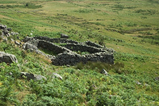 Ruin  above Capel Curig