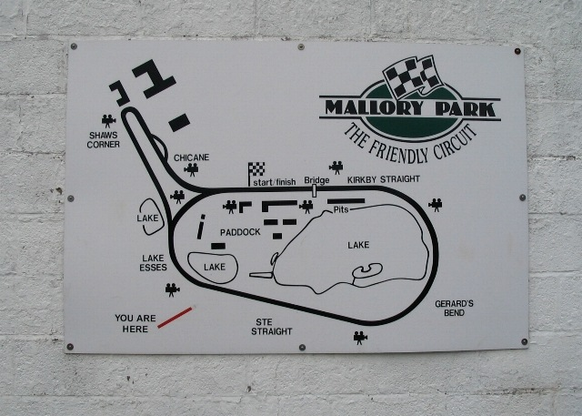 Mallory Park circuit map