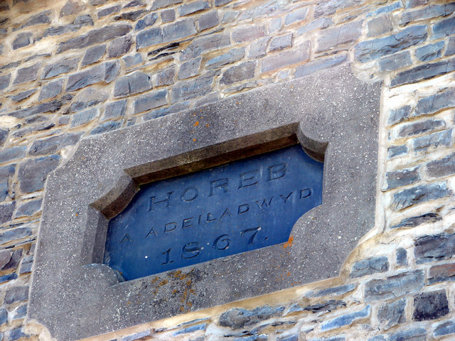 Plaque on the converted chapel at Gors