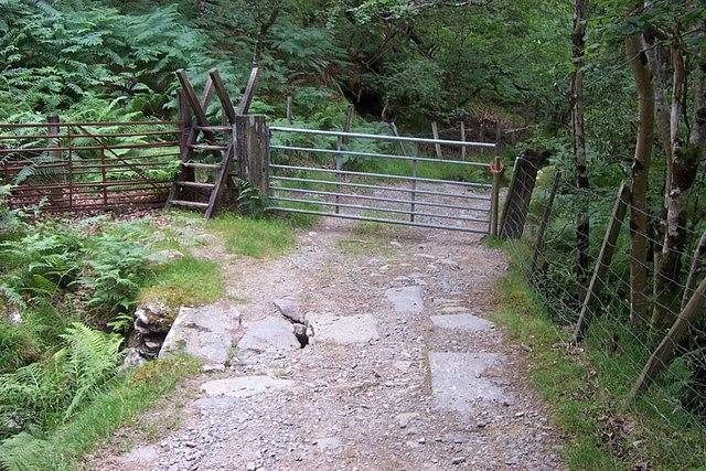 Gate and Stile  near Capel Tan-y-garth