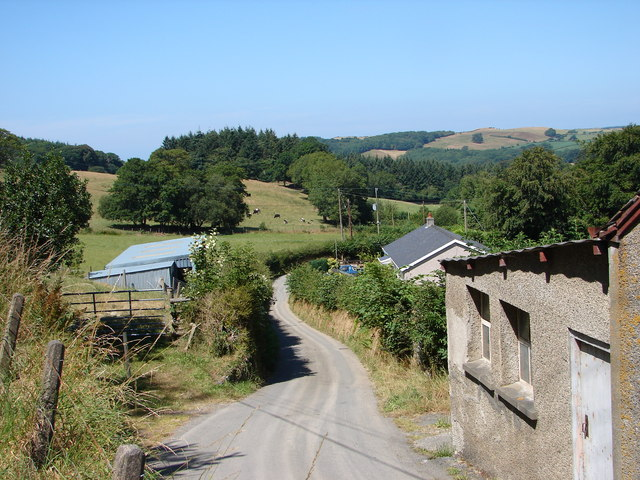Country lane at Gors