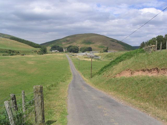 Road leading to Longcroft Farm