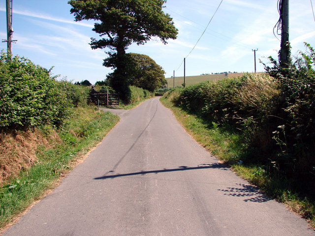 Country lane near Glanystwyth