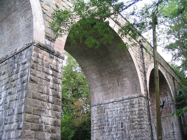 Disused railway viaduct, Ffrith
