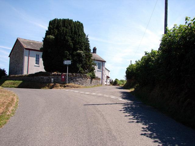 Road Junction and Chapel near Llanfihangel-y-Creuddyn