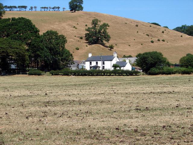 Llwynbrain Farm near Llanfihangel-y-Creuddyn
