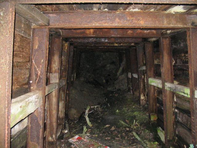 Inside mine shaft