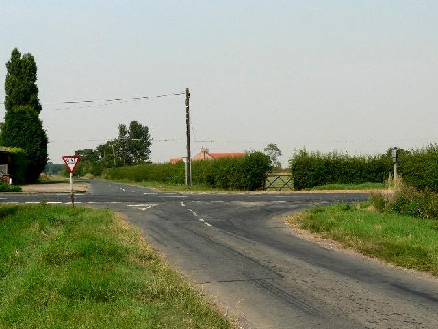 The Wressle To Foggathorpe Road Crosses The B1228