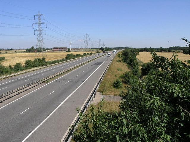 Motorway and Pylons