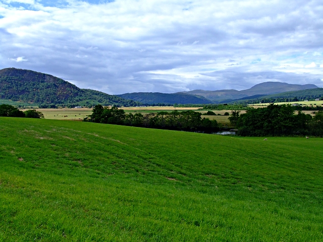 Looking down towards the River Conon
