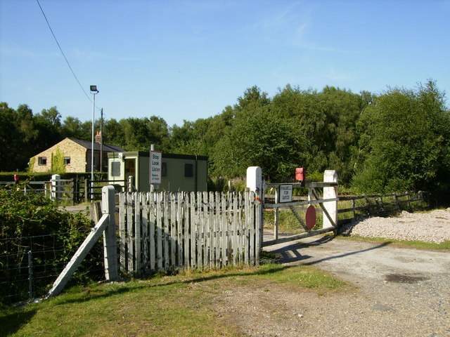 Manually operated level Crossing on Strensall Common
