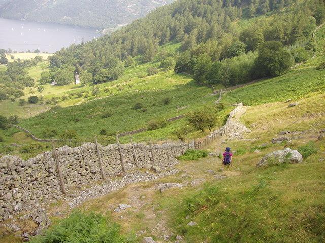 Descending Glencoyne towards  Seldom Seen