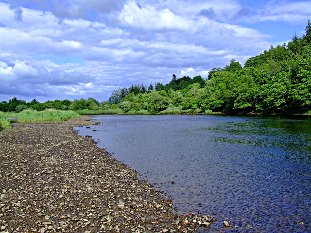 Looking down the River Beauly