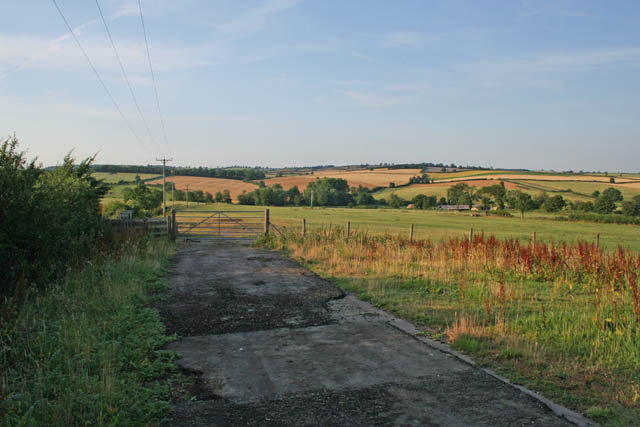 Site of railway yard and station near East Norton