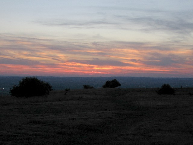 Sunset from Westbury Hill