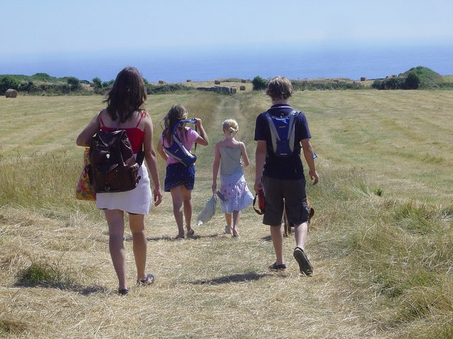 Heading for the sea, Langton Matravers, Purbeck