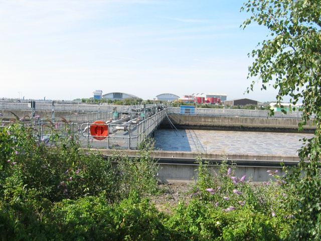 Sewage Works on the shoreline at Cardiff