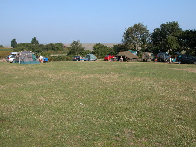 High Sand Creek campsite at Stiffkey