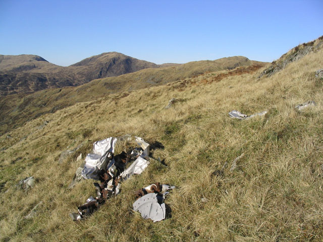 Aircraft Wreckage near Red Gairy