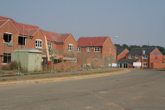 New housing, off Londonthorpe Lane, Grantham
