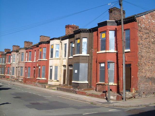 Empty houses in Herschell Street, Anfield