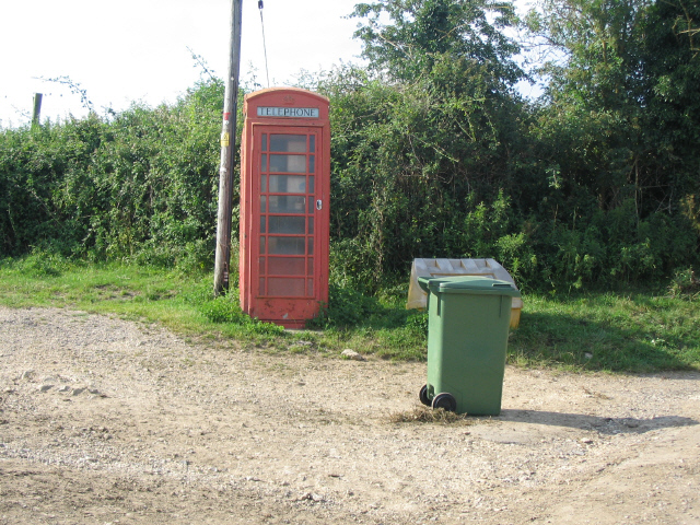 Phone box at Slaughterford