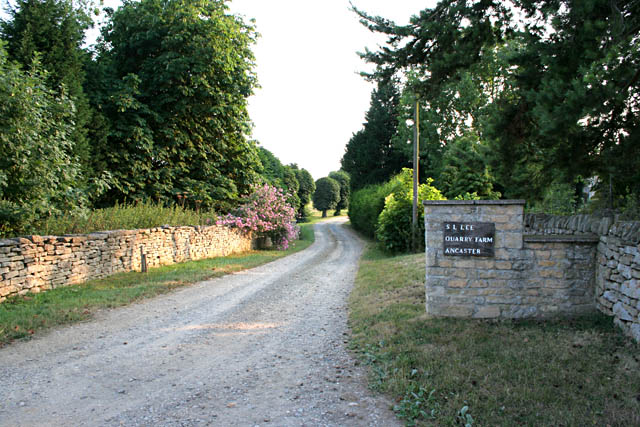 Entrance to Quarry Farm, near Ancaster