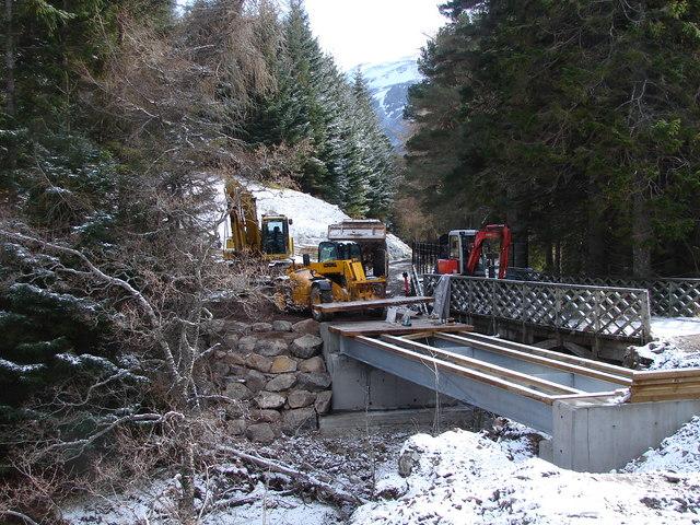 Bridge Replacement at Ben Alder Lodge