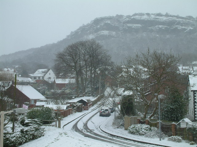 Helsby, The Hill in the Snow