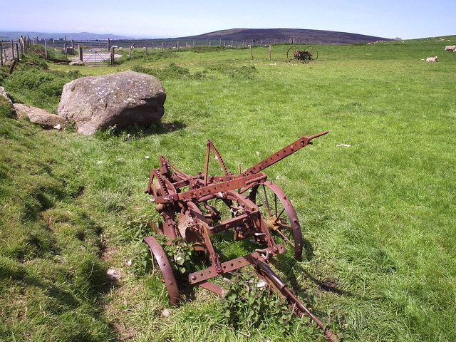 Old machinery in upland pasture, Mynydd Melyn