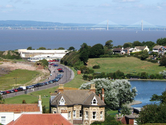Severn Bridges from Nore Rd. Portishead