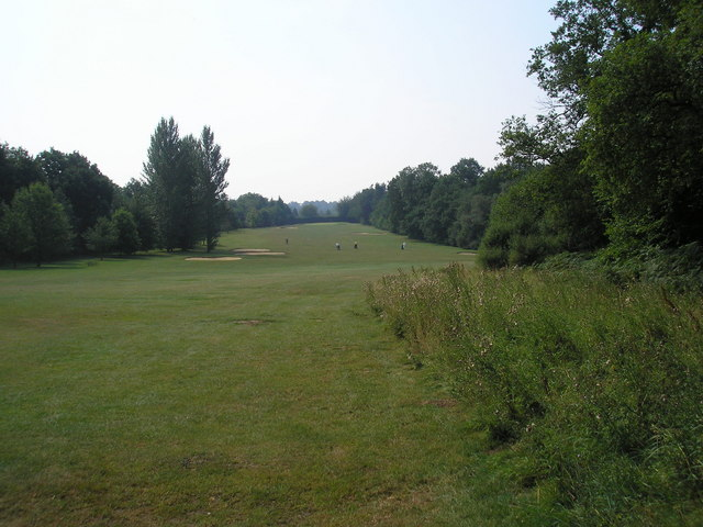 Second fairway, Lingfield Park Golf Club
