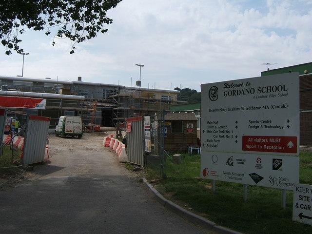 Construction at Gordano School