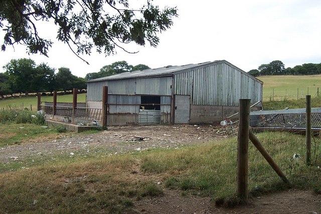 Farm shed building near Tremorfa