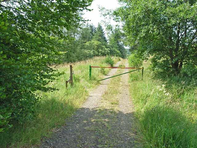 Road barrier near Scotch Kershope