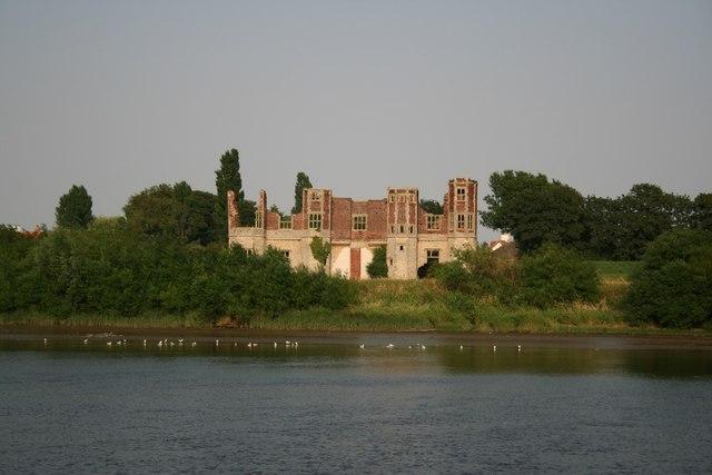 Torksey Castle across the Trent