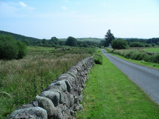 Minor road near Mabie Forest