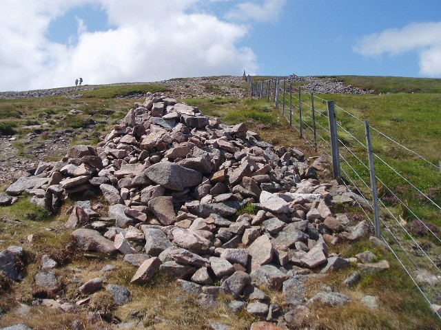Cairn near top of Cheviot