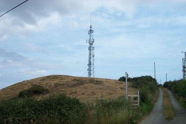 Bryn Locyn Mast near Gyffin