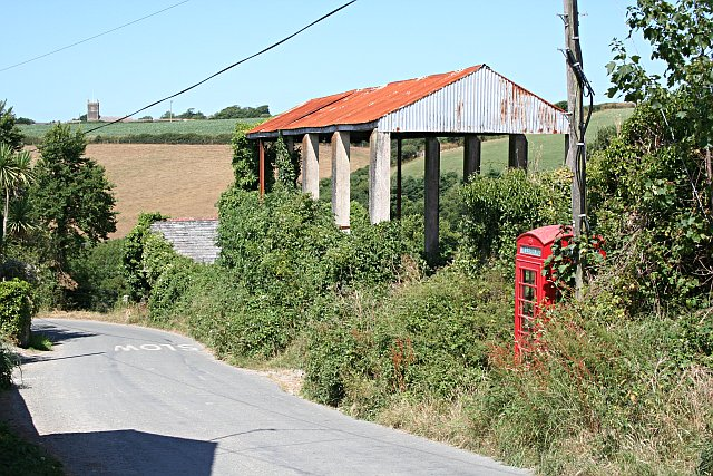 Disused Barn and Telephone Box