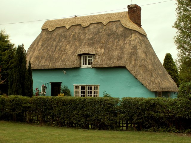 Thatched cottage at Duddenhoe End, Essex