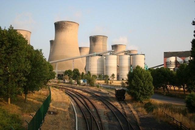 Cottam Power Station from Outgang Lane Bridge