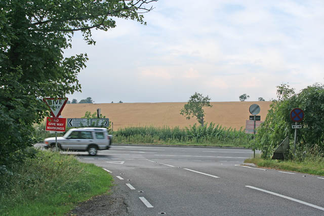 Road junction on the A5199
