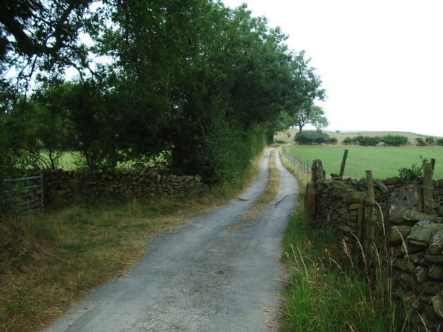 The Road to Bindloss Farm