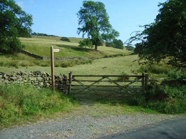 Gate and finger post