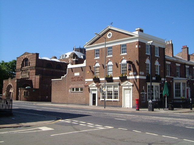 St Philip Neri church and the Blackburne Arms Hotel, Catharine St, Liverpool