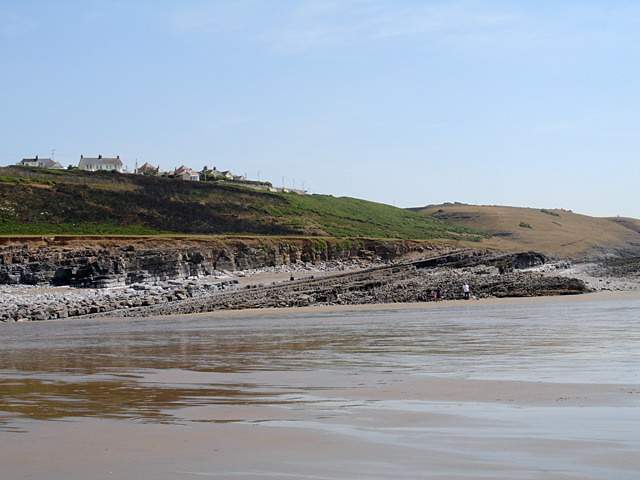 Rock Strata on Ogmore Beach 2