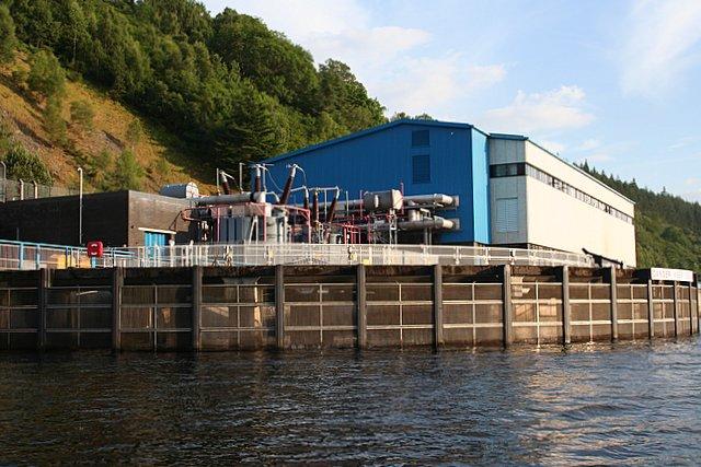 Power Station on Loch Ness shore near Foyers.